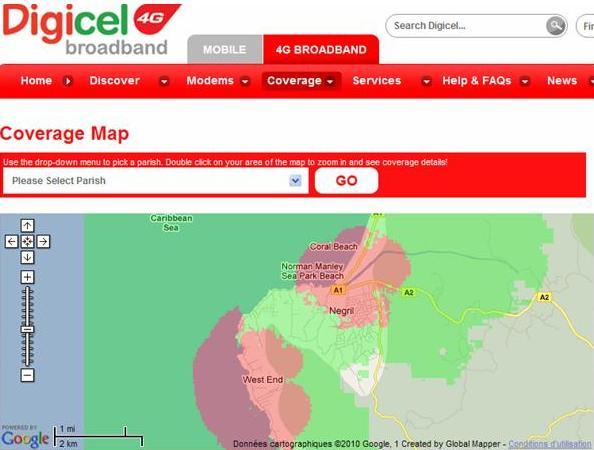 Digicel 4G Negril Coverage & FAQ on